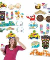 Dubbelzijde foto booth props tropical