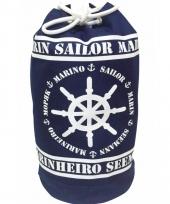 Duffel matrozen tas marinheiro blauw wit 54 cm