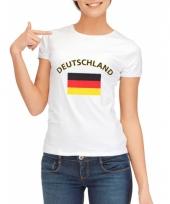 Duitsland vlaggen t-shirt voor dames