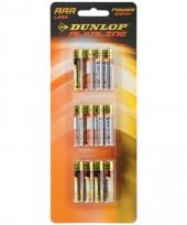Dunlop batterijen 12 stuks aaa lr03