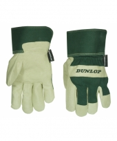 Dunlop werk tuin handschoenen van varkensleder
