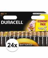 Duracell lr6 aa batterijen 24 stuks