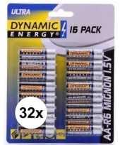 Dynamic energry lr6 aa batterijen 32 stuks