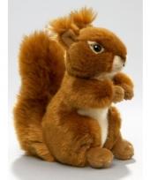 Eekhoorn pluche knuffel zittend liggend 17cm