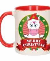 Eenhoorn melk mok beker voor kerst 300 ml