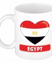 Egyptische vlag hart mok beker 300 ml