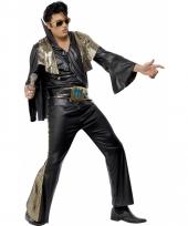 Elvis heren kostuum zwart goud