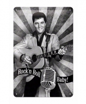 Elvis presley decoratie muurdecoratie rock n roll baby 20 x 30 c