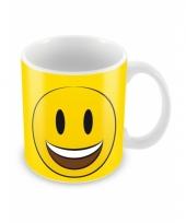 Emoticon beker lachend gezichtje