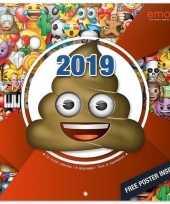 Emoticon smiley kalender 2019