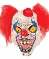 Enge clown masker met hoedje