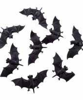 Enge halloween dieren vleermuizen 8 stuks 10 cm