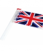 Engeland zwaaivlaggetjes 10 stuks
