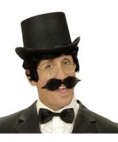 Engelse gentlemen snor zwart