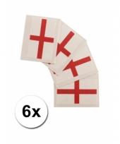 Engelse supporters tattoo 6 stuks
