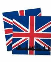 Engelse vlag servetten 40x stuks