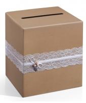 Enveloppen kubus van kraft papier