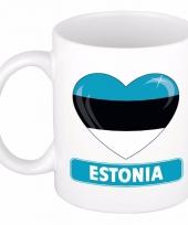 Estlandse vlag hart mok beker 300 ml