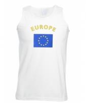 Europa vlaggen tanktop t-shirt