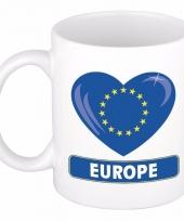 Europese vlag hart mok beker 300 ml