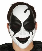 Evil harlekijn masker voor een horror feestje