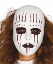 Evil mime masker voor een horror feest
