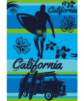 Extra groot strandlaken california blue 140 x 200