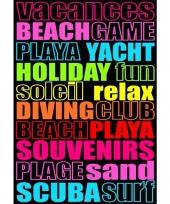 Extra groot strandlaken fun game 140 x 200