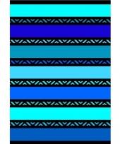 Extra groot strandlaken twisty blue 140 x 200
