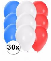 Feest ballonnen in de kleuren van frankrijk 30x 10087266