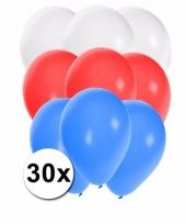 Feest ballonnen in de kleuren van slowakije 30x 10087269
