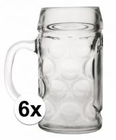 Feest bierpullen 1 liter 6 stuks