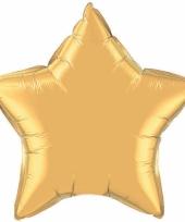 Feest folieballon goud sterretje 50 cm