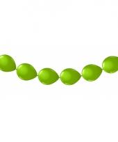 Feest knoopballonnen lime groen