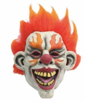 Feest masker horror scary clown flames