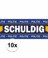 Feest politie agent schuldig stickers 10 stuks