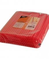 Feest rietjes rood kleurig 25 cm 135 stuks