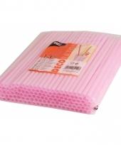 Feest rietjes roze 25 cm 135 stuks