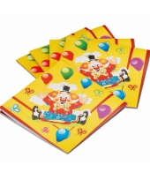 Feest servetjes circus 20 stuks