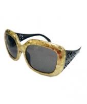 Feest zonnebril in het goud