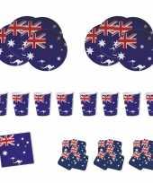 Feestartikelen australie tafel versiering pakket