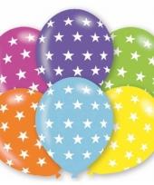 Feestartikelen ballonnen sterren 6 st
