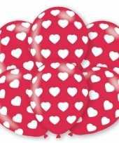 Feestartikelen ballonnen valentijn 6 st