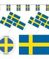 Feestartikelen zweden versiering pakket