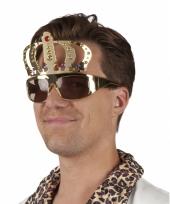 Feestbril in de vorm van een kroon