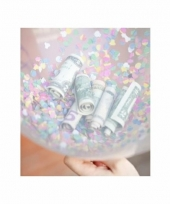 Feestelijke confetti hartjes ballonnen 15 stuks