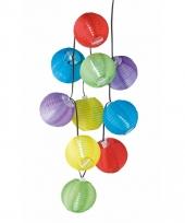 Feestelijke gekleurde lampenslinger 240 cm