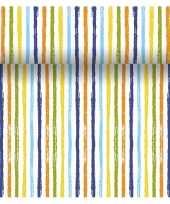 Feestelijke tafelloper 3 in 1 met gekleurde strepen 4 80 m