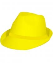 Feesthoedje tribly neon geel