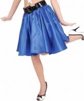 Feestkleding blauwe swing rok voor dames